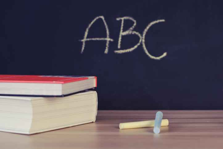 abc books chalk chalkboard